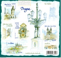 France.bloc No 126 De 2008.capitales Européennes.prague.n**. - Sheetlets