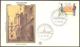 Fdc Filagrano Gold 1987 Scuola Nunziatella Af Torino No Venetia - 6. 1946-.. Repubblica