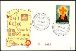 SCOUT - ITALIA MIRANO (VE) 1968 - ASCI - XXIII GIOCHI S. GIORGIO - CARTOLINA UFFICIALE - Cartas