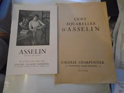 MAURICE ASSELIN 2 Petites Plaquettes Référençant 100 + 50 De Ses Oeuvres. - Art