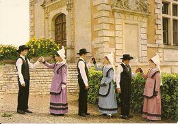 41. CPM. Loir Et Cher. Le Poitou. Groupe Folklorique En Costume Régional (animée, Folklore, Costumes) - France