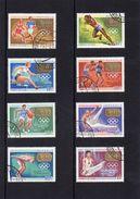 Mongolei, 1968, Michel 530/37, Gestempelt/°/stamped, Goldmedaillengewinner - Mongolie