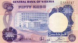 Nigeria P.14g 50 Kobo  1973 Unc - Nigeria