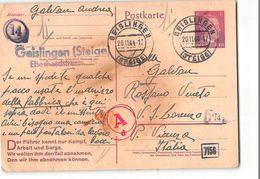 15663 GEISLINGER - STIEGE - TO VICENZA - LAVORATORE ITALIANO ITALIAN WORKER - Entiers Postaux