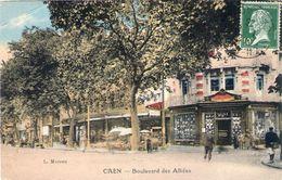 Cpa Caen 14 Calvado Bld Des Allies - Caen