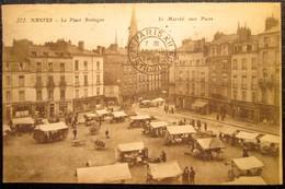 44   NANTES      PLACE BRETAGNE     LE MARCHE AUX PUCES   1922 - Nantes