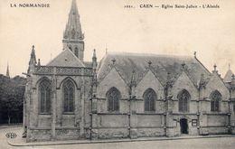 Cpa Caen 14 Calvados L'eglise St Julien - Caen