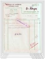 34 357 SAINT GUILHEM DE DESERT HERAULT 1957 Fabrique De Conserve FONZES Confiserie D Olives Foie Gras Truffe Cepe - Levensmiddelen