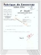 34 358 SAINT GUILHEM DE DESERT HERAULT 19.. Fabrique De Conserve FONZES Confiserie D Olives Foie Gras Truffe Cepe - Levensmiddelen