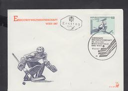 AUSTRIA  1967 - Unificato 1069 - Annullo Speciale Illustrato Hockey - Hockey (su Ghiaccio)