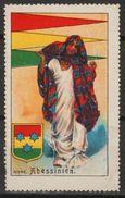 Abyssinia Ethiopia - National Costume Costumes  / Folk Art / Flag / Coat Of Arms - Cinderella / Label / Vignette - MH - Ethiopië