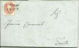 AS114-Lettera Da Malè Per Trento Con 5 Kreuz Rosso 19.10.1862 - Bella - Lombardo-Vénétie