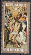 "Burundi 1972 Sc. 398 ""La Santa Trinità"" Quadro Dipinto Da El Greco Paintings Tableaux CTO  Pasqua Easter - Quadri"