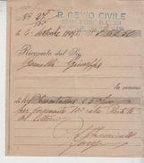 Messina R. Genio Civile Servizio Terremoto 1927 Rata Prestito Del Littorio - Documentos Históricos