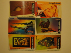 6 Remote Phonecards From Indonesia - Art - Indonesia