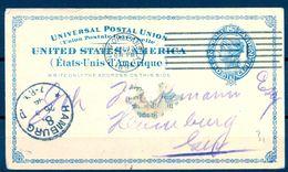 ESTADOS UNIDOS , 1894 , ENTERO POSTAL CIRCULADO ENTRE NEW ORLEANS Y HAMBURGO , LLEGADA - 1847-99 Emisiones Generales