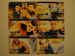 6 Remote Phonecards From Indonesia - Fantastic Four - Indonesia