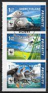 Finlande 2016 N°2425/2427 Oblitérés En Bande Issue Du Carnet WWF Phoque Libellule Et Oies - Finland