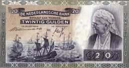 NETHERLANDS 20 GULDEN 1941 P-54a VF+ S/N DO 038929 [NL091b] - [2] 1815-… : Kingdom Of The Netherlands