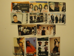 12 Remote Phonecards From Indonesia - Singers - Indonesia