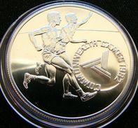 Tonga 10 Paanga 1982 Runners Silver Minted 500 Ex. Only !!! - Tonga