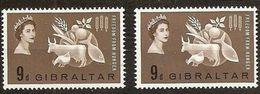 1963 Gibilterra Gibraltar FAME - FREEDOM FROM HUNGER 2 Serie (159)  MNH** - Alimentazione