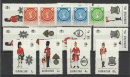 1971 Gibilterra Gibraltar UNIFORMI III  UNIFORMS III 3 Serie: 274/77 + Striscia 271/73 MNH** - Gibilterra