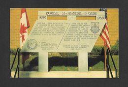 CLAIR - NEW BRUNSWICK - PAROISSE ST FRANÇOIS D' ASSISE ÉRIGÉ EN 1989 PAR LE CLUB RICHELIEU DE CLAIR - PAR STUDIO LAPORTE - Nouveau-Brunswick