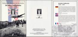 """Bund: Minister Card - Ministerkarte Bundesdruckerei,  Schwarzdruck Mi-Nr. 188, """" 50 Jahre Luftbrücke """", Selten !   X - Covers & Documents"""