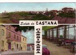 CASTANA CASSINASSA -CARTOLINA VERA FOTOGRAFIA MULTIVEDUTE(3 Immagini)-VIAGGIATA IL 1-9-1970 - Pavia