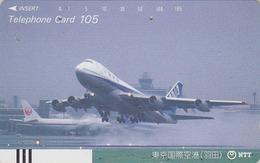 Télécarte Ancienne Japon / NTT 230-048 - AVION - AIR PLANE Japan Front Bar Phonecard - FLUGZEUG Balken Telefonkarte - Vliegtuigen