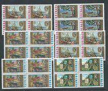 Grenada 1968 Churchill Paintings Set Of 6 MNH Blocks Of 4 - Grenada (...-1974)