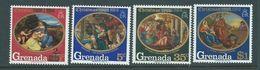 Grenada 1969 Christmas Overprint On 68 Paintings Set 4 MNH - Grenada (...-1974)