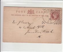 G.B. / Stationery / Hoster Postmarks - 1840-1901 (Victoria)