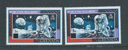 Grenada 1970 5c Surcharge On Apollo Moon Landing Type I & Type II MNH - Grenada (...-1974)