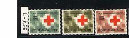 "PORTUGAL. 1965 ""RED CROSS"" #955 - 957 MNH - Nuevos"