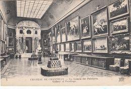 Cp , 60 , CHANTILLY , Le Château , La Galerie Des Peintures - Chantilly