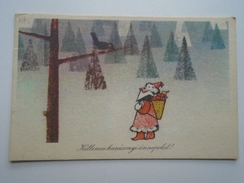 D156016 Christmas Card -Santa Claus -Rozs Endre - Santa Claus