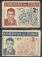 CUBA 1962 Mi:CU 801/2,  Yt:CU 595/6  ** - Cuba