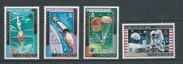 Grenada 1970 Philympia London Overprint On Apollo Space Mission Set Of 4 MNH - Grenada (...-1974)