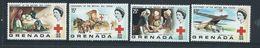 Grenada 1970 Red Cross Anniversary Set 4 MNH - Grenada (...-1974)