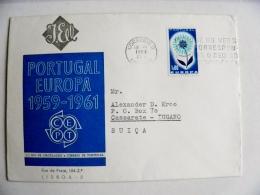 Cover From Portugal 1964 Lisboa Europa Cept Flower - 1910-... República