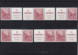 DDR, Kpl. ZD Kombinationen Der Nr 580 B**, (W Zd !9)-W Zd 23 Mi. 28,-  Euro (K 442) - [6] República Democrática