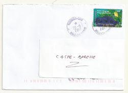 NOUVELLE CALEDONIE  ADHESIF  SUR LETTRE OBLITERE  THEME NATURE. - Covers & Documents