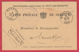 Fayt-lez-Seneffe - Carte Postale Communale - 1902  ( Voir Verso ) - Manage
