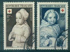 FRANCE N°914 / 915 CROIX ROUGE 1951 Oblitéré C à D Tb Cote : 8.45 € - France