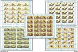 Zaire 1216/20** Parc De La Gramba 5 Sheet / Feuilles De 20 - MNH- Dessin De Buzin - Zaïre