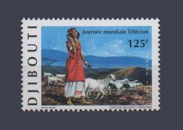 ¤NEW YEAR SALE¤ DJIBOUTI TELECOM JOURNEE MONDIALE TELECOMMUNICATIONS DAY Michel Mi 674 1999 MNH ** RARE - Telecom