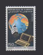 ¤NEW YEAR SALE¤ DJIBOUTI TELECOM JOURNEE MONDIALE TELECOMMUNICATIONS DAY Michel Mi 668 1998 Computer MNH ** RARE - Informatica