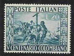 1951 Italia Italy Repubblica CRISTOFORO COLOMBO Serie MNH** - Christopher Columbus